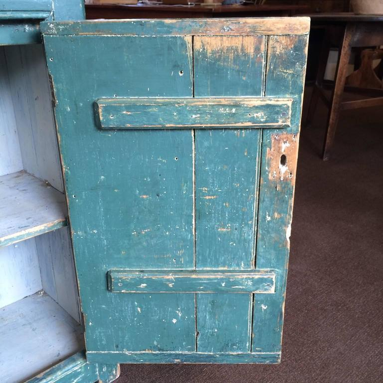 Canadian Green Single Door Cupboard For Sale