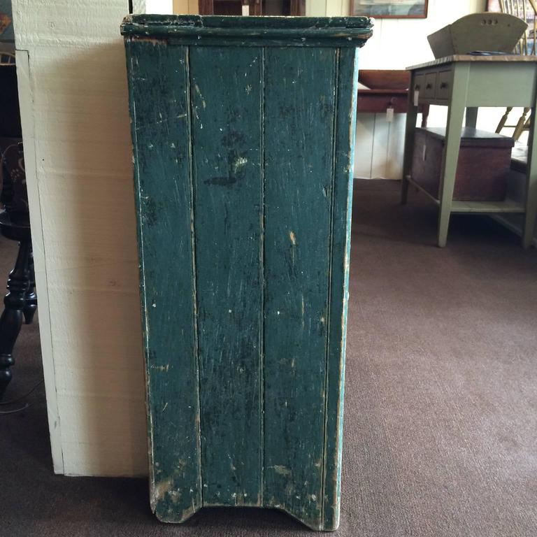 19th Century Green Single Door Cupboard For Sale
