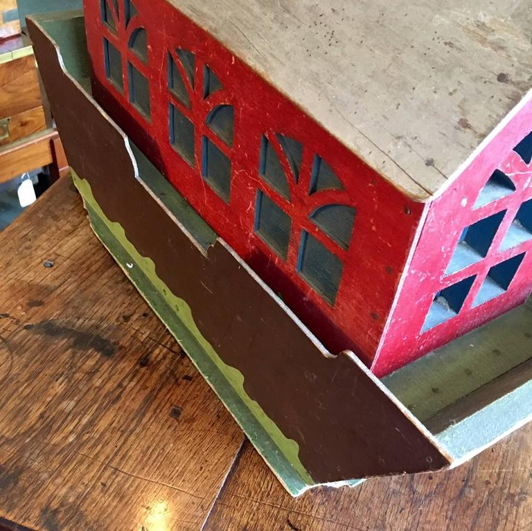 Late 19th Century 19th Century Handcrafted Folk Art Noah's Ark For Sale