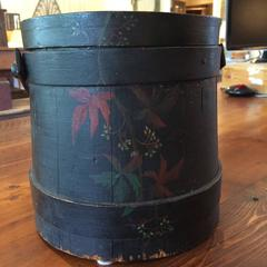 Black Painted Firkin with Lid