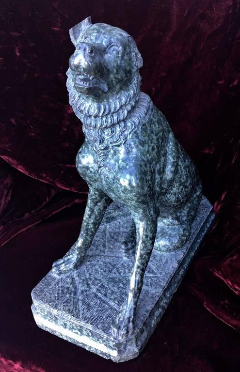 Italian Marble Sculpture of a Dog 3