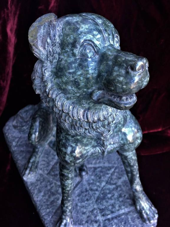 Italian Marble Sculpture of a Dog 7