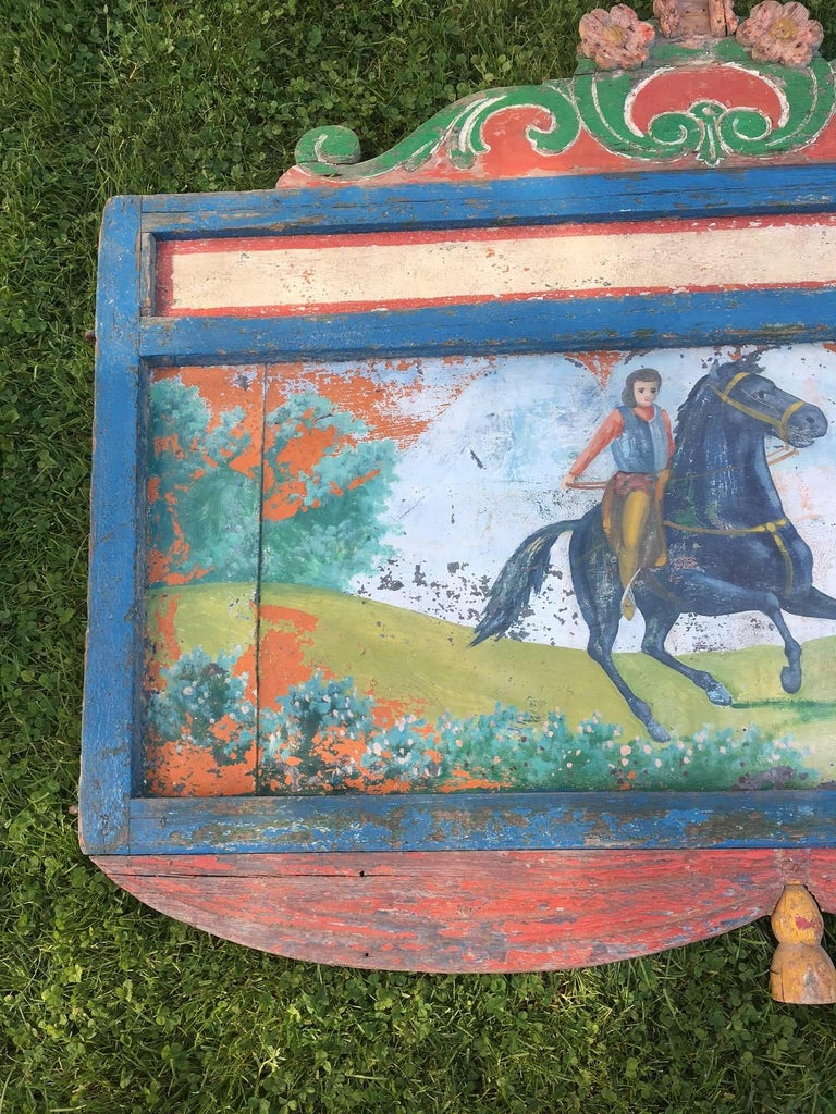 19th Century Hand-Painted Circus Rounding Board 6