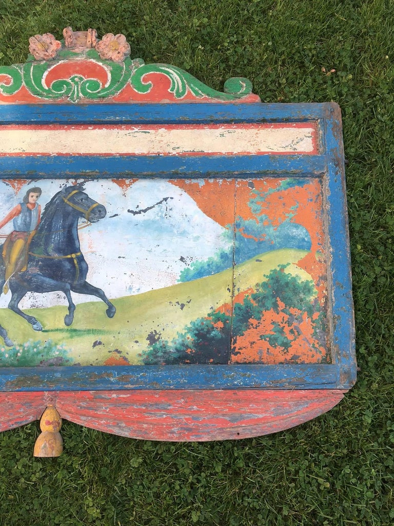 19th Century Hand-Painted Circus Rounding Board 7