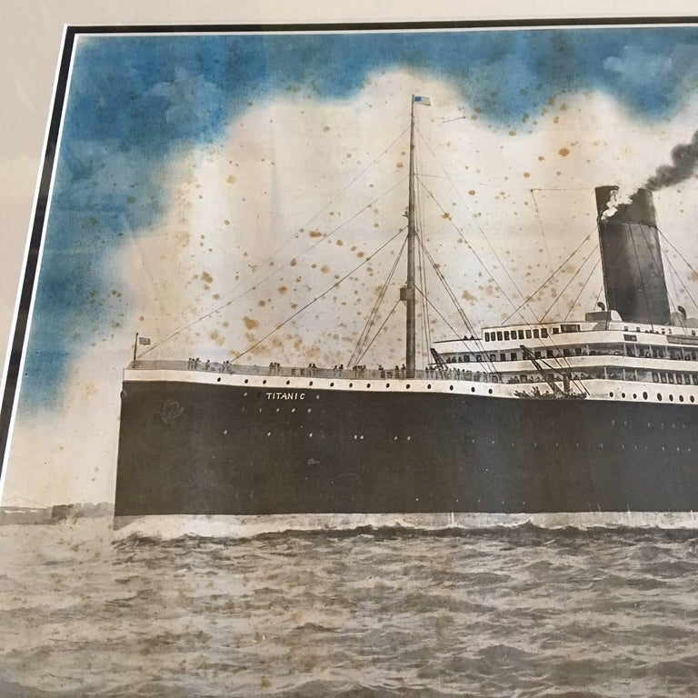 Period Printed Broadside of the Titanic Catastrophe, Published on April 15, 1912 In Good Condition For Sale In Nantucket, MA