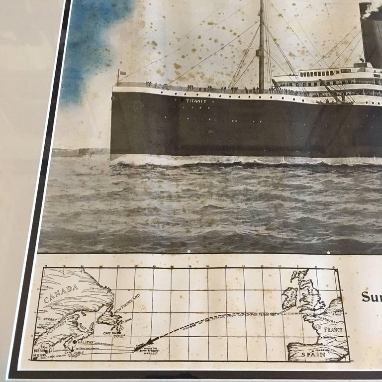 Paper Period Printed Broadside of the Titanic Catastrophe, Published on April 15, 1912 For Sale