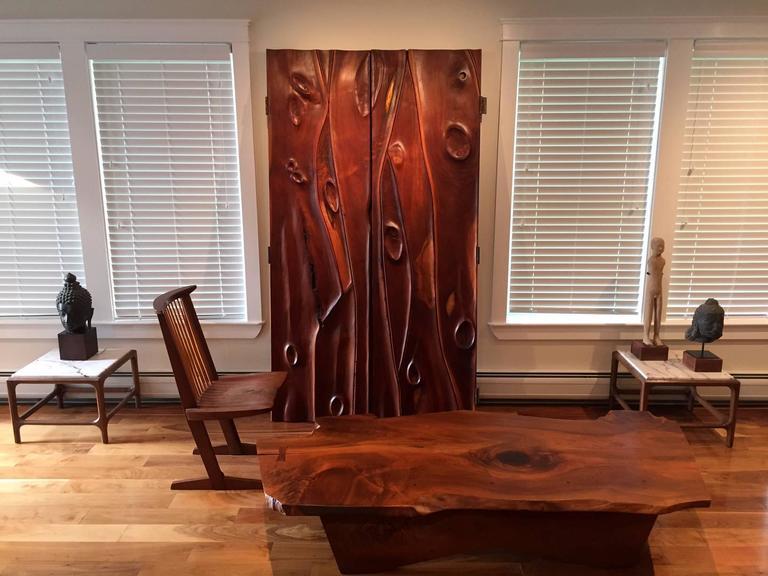 Early Large Walnut Coffee Table by George Nakashima 5