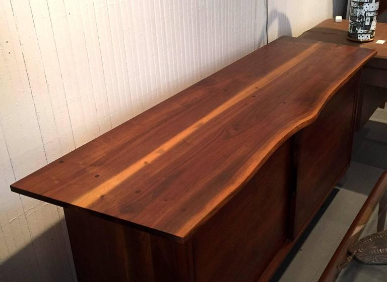 Walnut Sideboard with Top Shelf by George Nakashima For Sale 1