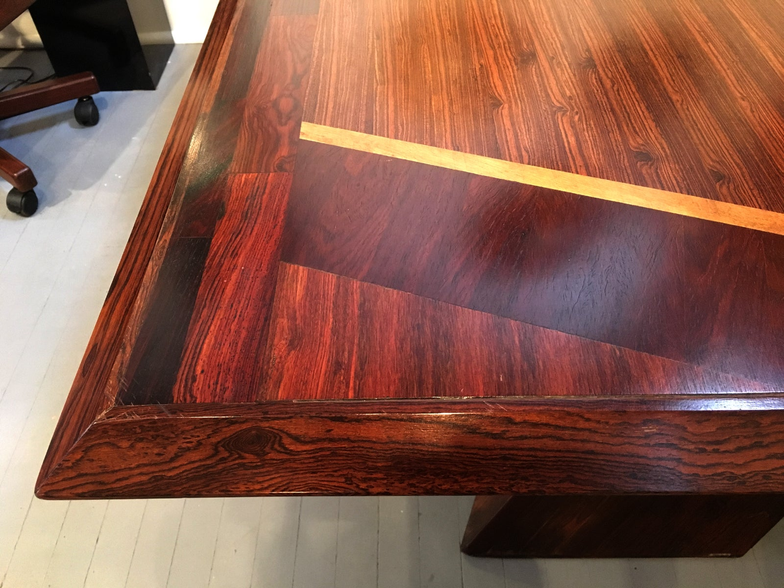 Rosewood diamond desk and chair by don shoemaker at 1stdibs