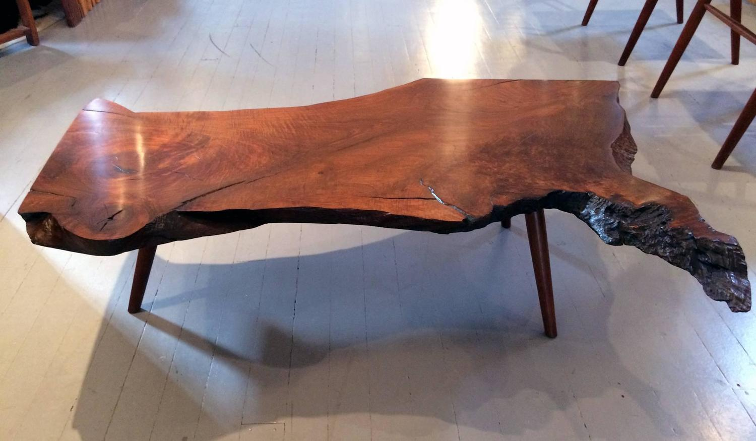 Early Walnut Slab Coffee Table By George Nakashima For Sale At 1stdibs