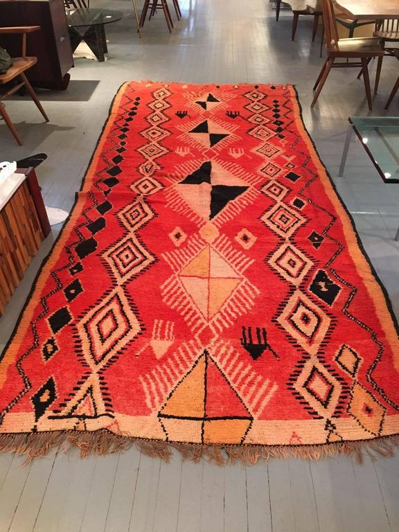 Large vintage moroccan berber wool rug for sale at 1stdibs for Wool berber area rug