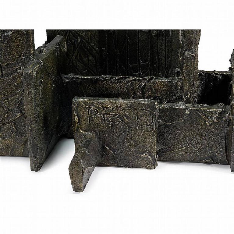 Sculpted Bronze Coffee Table by Paul Evans For Sale 4