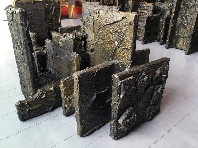 Sculpted Bronze Coffee Table by Paul Evans For Sale 3