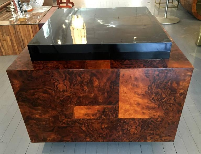 American Burl Wood Patchwork Table by Paul Evans For Sale