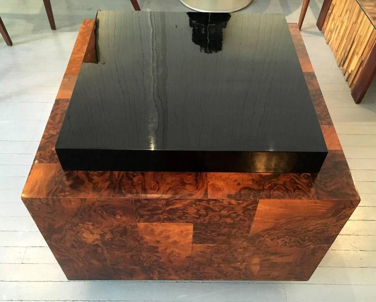 Burl Wood Patchwork Table by Paul Evans In Good Condition For Sale In North Miami, FL