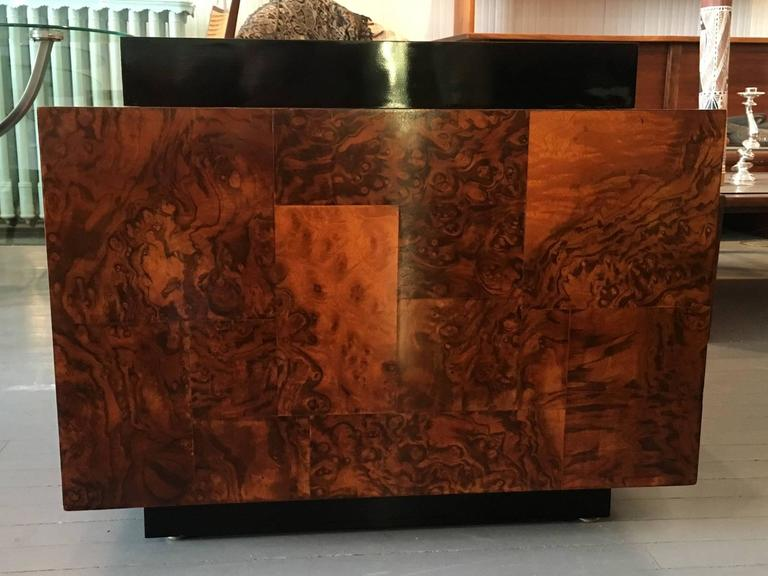 Burl Wood Patchwork Table by Paul Evans For Sale 1