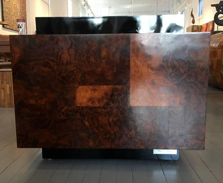 Burl Wood Patchwork Table by Paul Evans For Sale 2