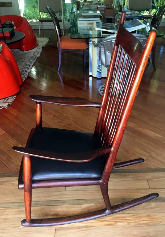 Mid-Century Modern Rare Early Rosewood Rocking Chair by Sam Maloof For Sale