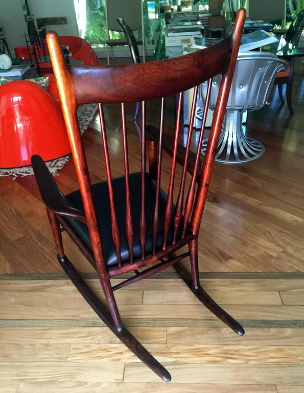 American Rare Early Rosewood Rocking Chair by Sam Maloof For Sale