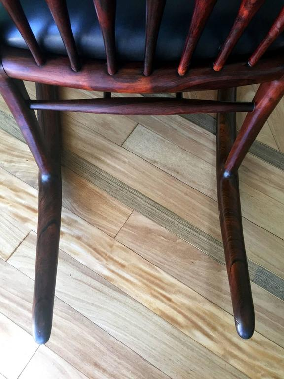 Mid-20th Century Rare Early Rosewood Rocking Chair by Sam Maloof For Sale