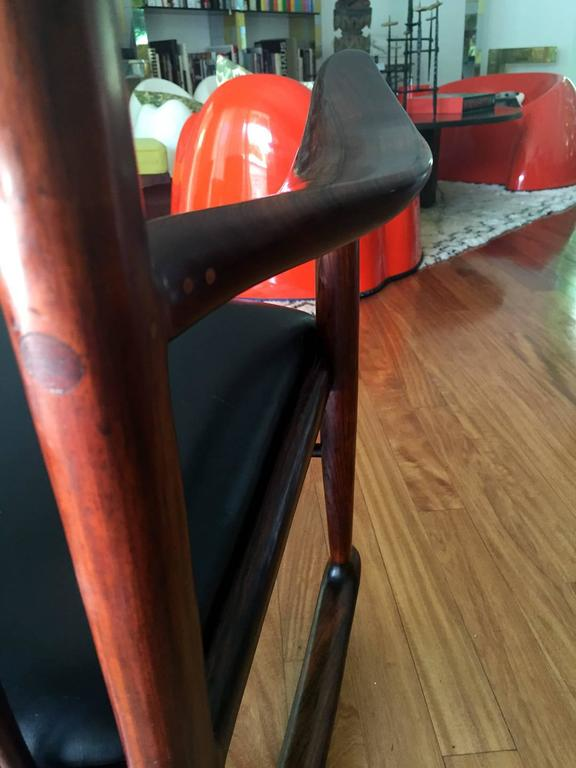 Rare Early Rosewood Rocking Chair by Sam Maloof For Sale 1