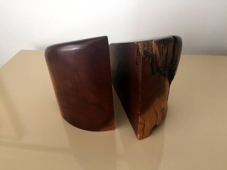 Mid-Century Modern Pair of Cocobolo Bookends by Don Shoemaker For Sale