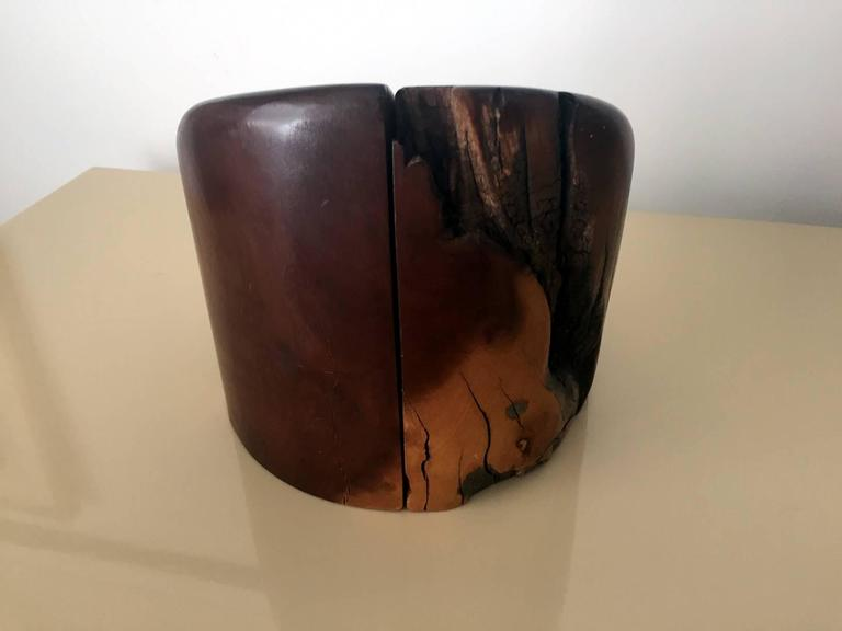 Pair of Cocobolo Bookends by Don Shoemaker In Good Condition For Sale In North Miami, FL