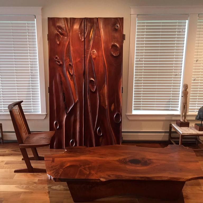 A Special Walnut Conoid Chair by George Nakashima For Sale 4