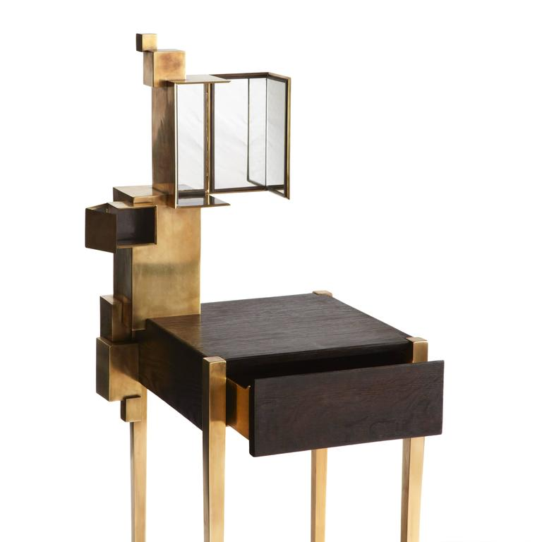 coiffeuse dressing table by erwan boulloud for sale at 1stdibs. Black Bedroom Furniture Sets. Home Design Ideas
