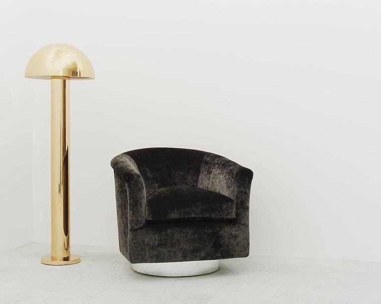 Springer ltd brass mushroom floor lamp usa 2016 for sale at 1stdibs