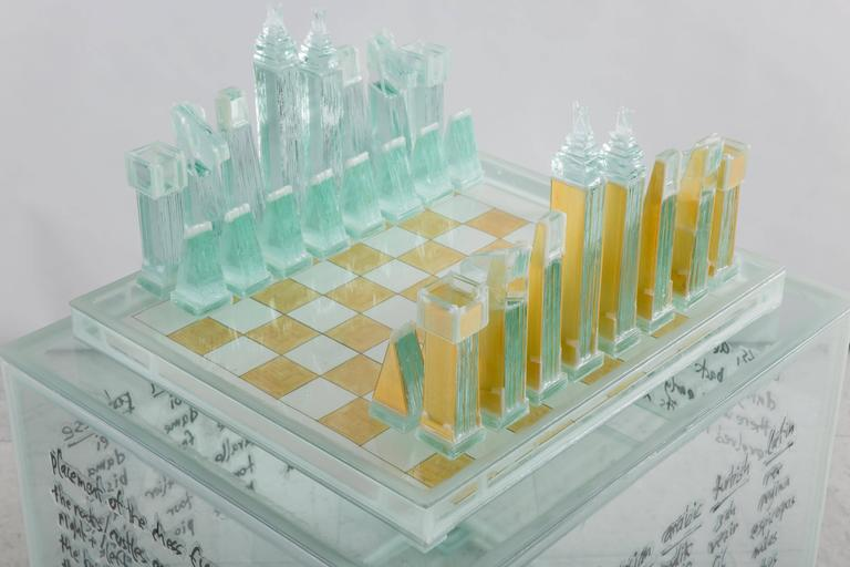 Clemens Weiss Large Chess Set With Stand Usa 2016 For