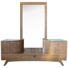 American Paul T. Frankl for Brown Saltman Mid-Century Modern Vanity