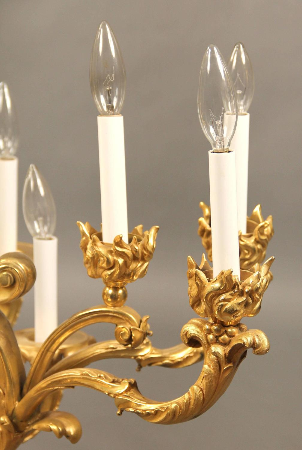 Fantastic Quality Late 19th Century Gilt Bronze Chandelier For Sale At 1stdibs