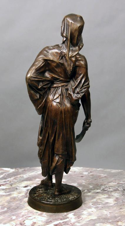 French Late 19th Century Bronze Sculpture of a Female Warrior by E. Drouot For Sale