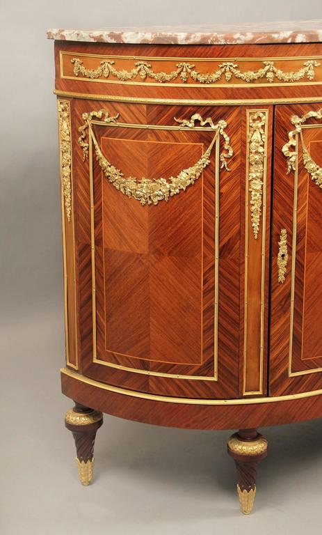 French Fine Late 19th Century Gilt Bronze-Mounted Louis XVI Style Cabinet For Sale