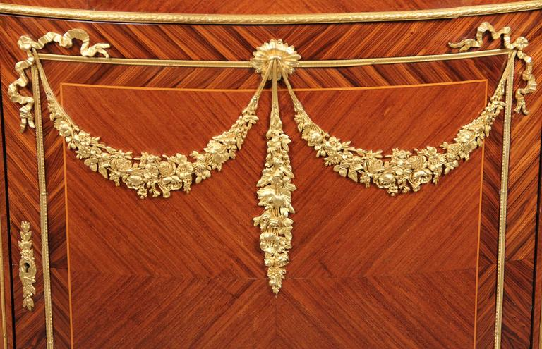 Belle Époque Fine Late 19th Century Gilt Bronze-Mounted Louis XVI Style Cabinet For Sale