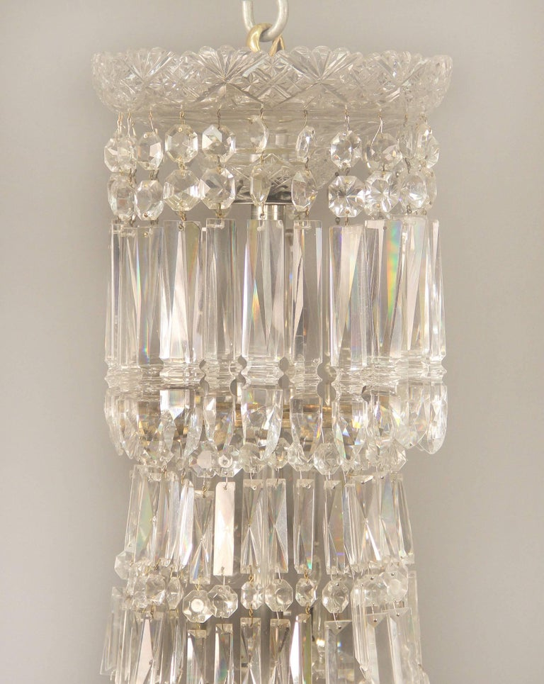 Irish Exceptional Early 19th Century Waterford Crystal Eighteen-Light Chandelier For Sale