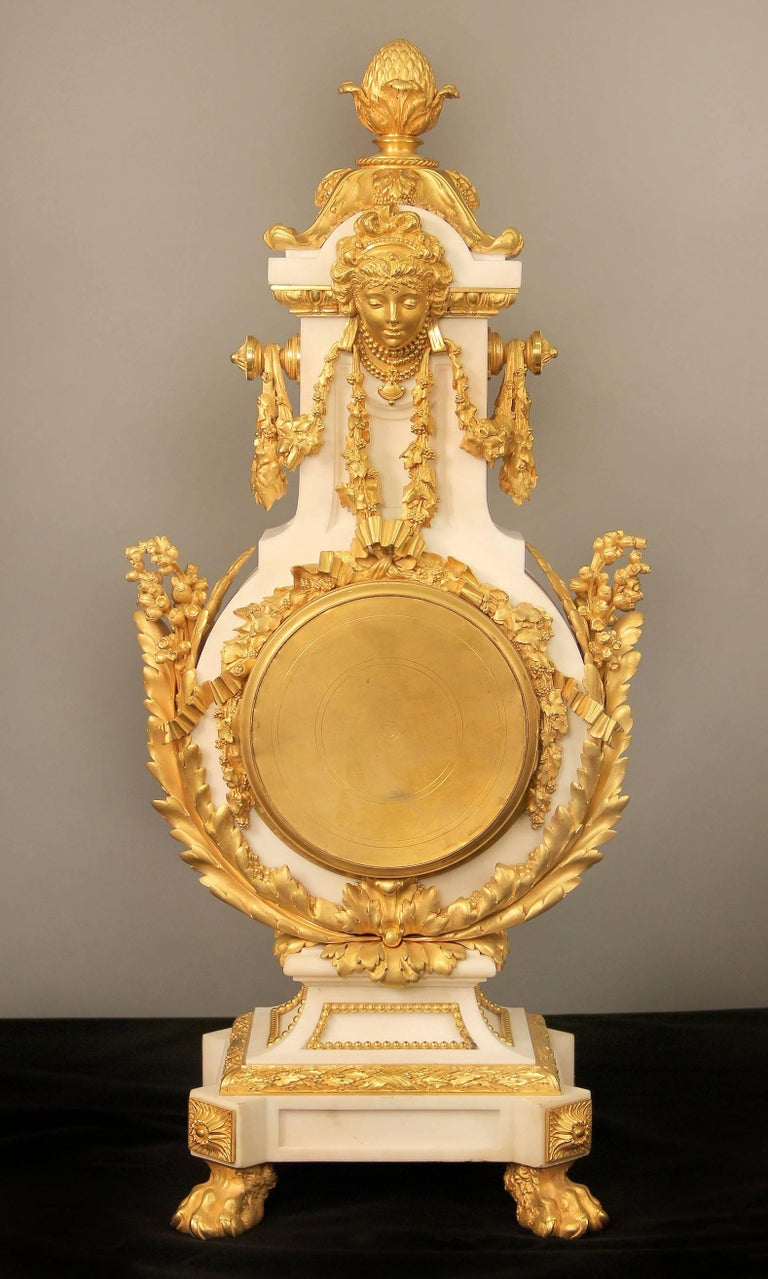 Bronze Exceptional Late 19th Century Three-Piece Clock Set by Ferdinand Gervais For Sale