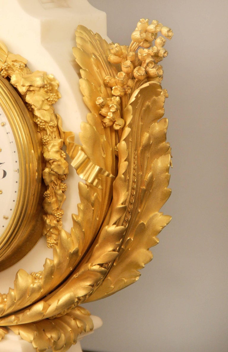 Gilt Exceptional Late 19th Century Three-Piece Clock Set by Ferdinand Gervais For Sale