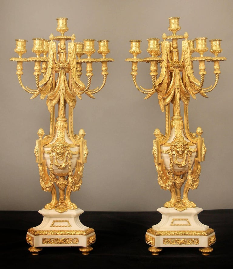 Exceptional Late 19th Century Three-Piece Clock Set by Ferdinand Gervais For Sale 1