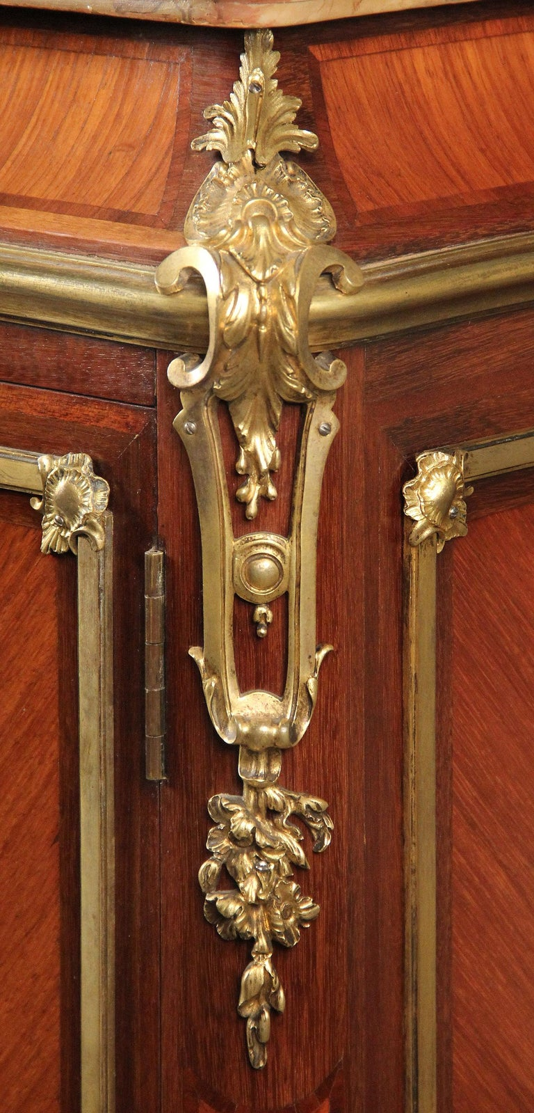French Late 19th Century Gilt Bronze Mounted Inlaid Marquetry Cabinet by Durand For Sale