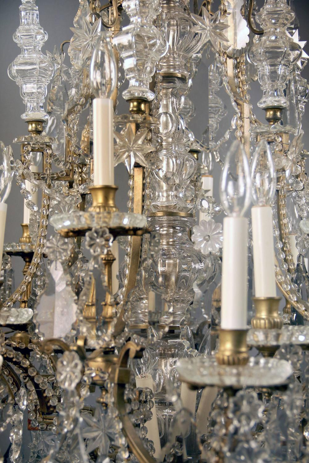 Late 19th Century Gilt Bronze And Baccarat Crystal