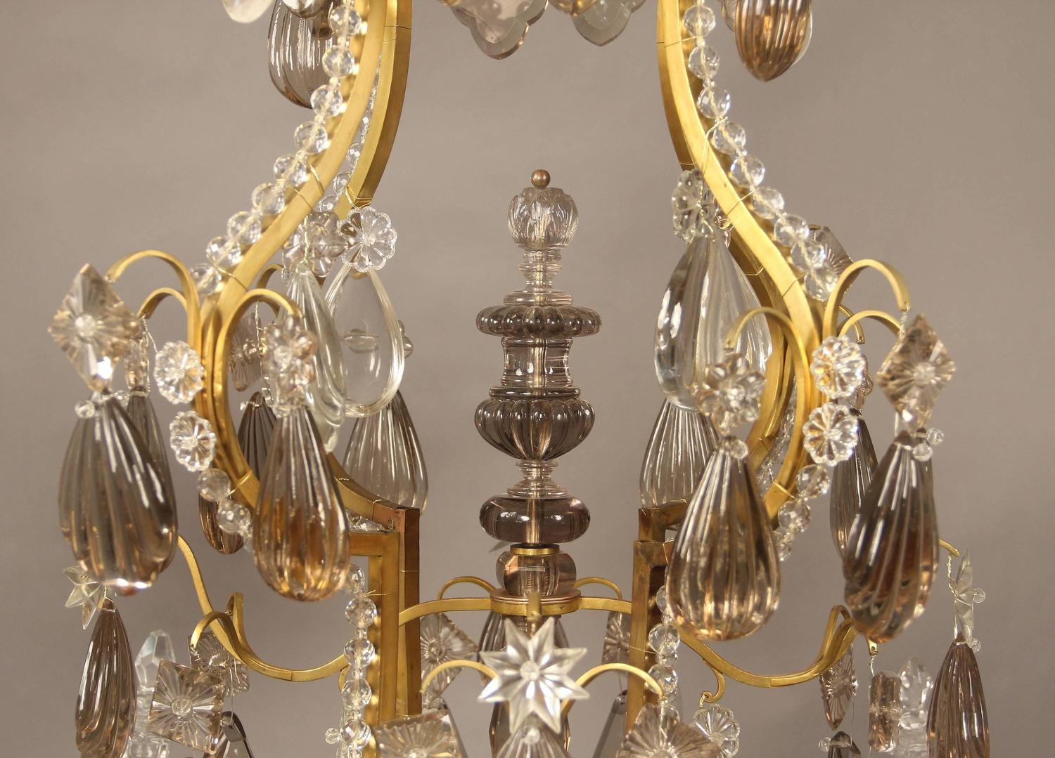 Late 19th Early 20th Century Gilt Bronze And Baccarat