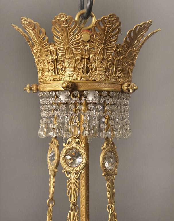 Großer und Wunderschöner Russischer Empirestil Kronleuchter, Spätes 19. Jahrhundert 2