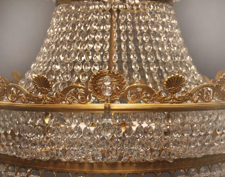 Großer und Wunderschöner Russischer Empirestil Kronleuchter, Spätes 19. Jahrhundert 4