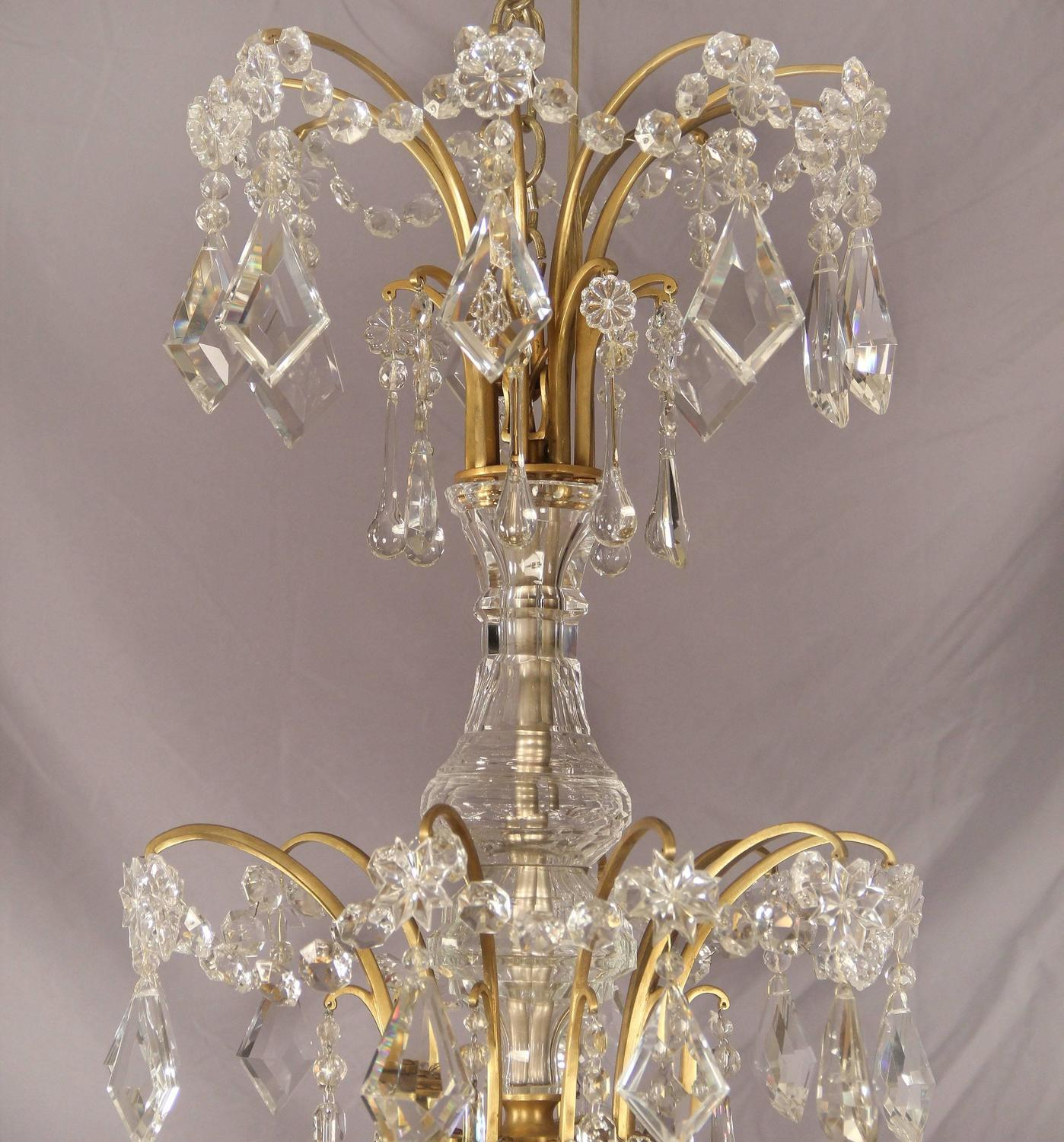 Palatial and unique gilt bronze and crystal chandelier for Unique chandeliers for sale