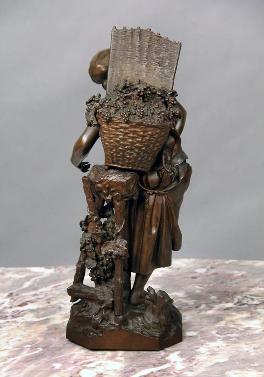 French Lovely Late 19th Century Bronze Sculpture by Mathurin Moreau For Sale