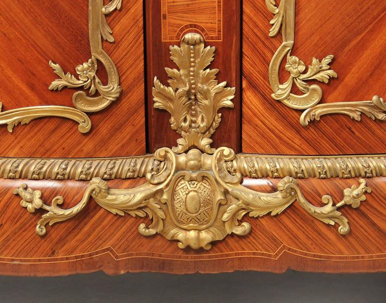 French Fine Late 19th Century Gilt Bronze-Mounted Cabinet For Sale