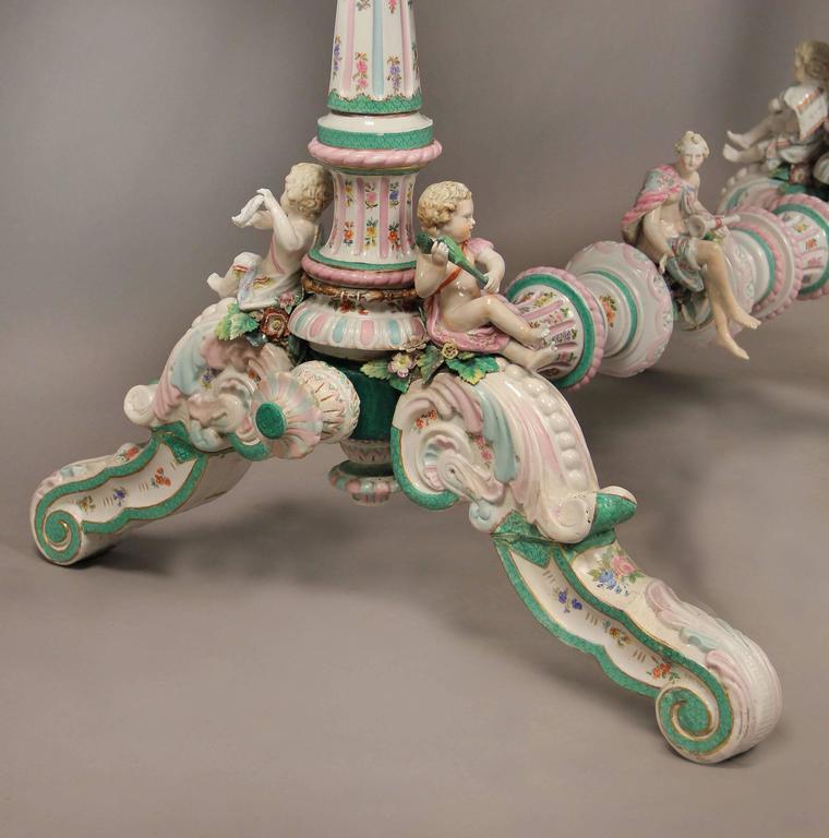 Lovely Late 19th Century Gilt Bronze-Mounted German K.P.M. Porcelain Desk For Sale 2