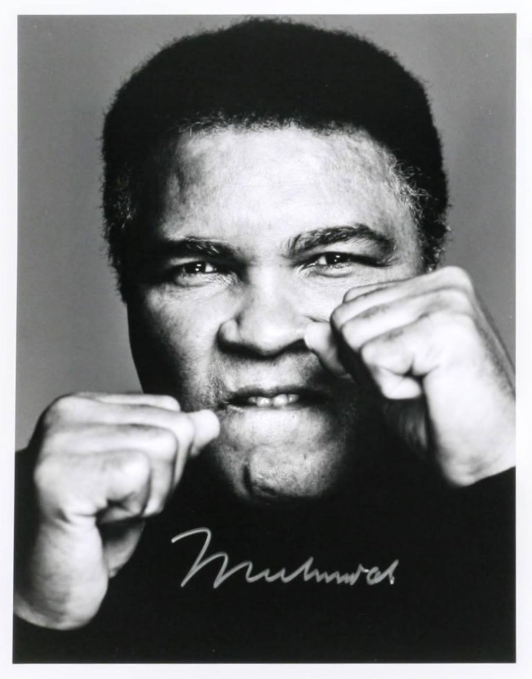 "Each of the three 11x14 inch silver prints is signed by Ali in silver marker on the front of the image; each image is also signed by Corman on the verso and marked ""1 of 1"". The Ali signatures are particularly strong and bold.   Trained under"